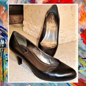 Calvin Klein Black Leather Heels